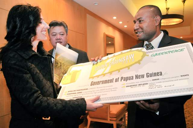 A Golden Chainsaw for Papua New Guinea