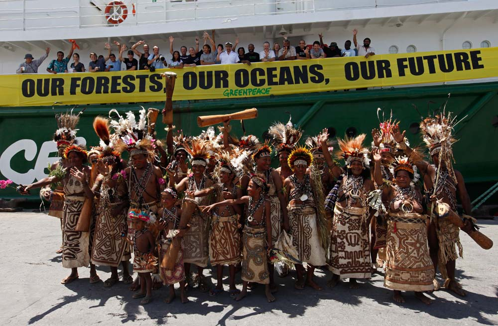 Protecting forests, traditional welcomes and leaving PNG