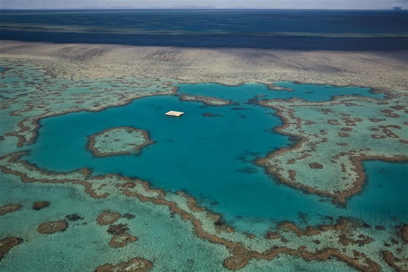 Aerial of Great Barrier Reef