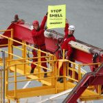 Lucy Lawless joins Greenpeace action against Arctic oil drilling