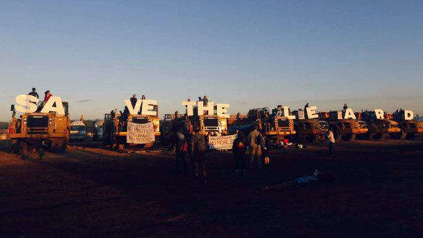 Historic action at Maules Creek Coal Mine
