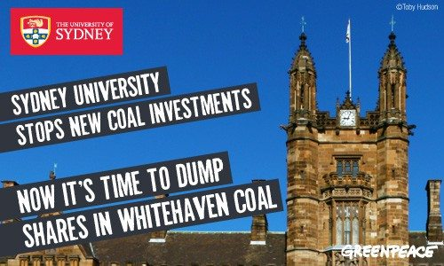 Sydney University, it's time to dump Whitehaven!