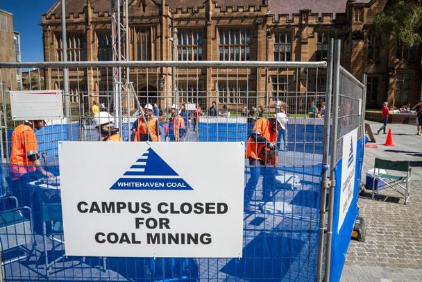 What happens when a coal company builds a coal mine inside Sydney University