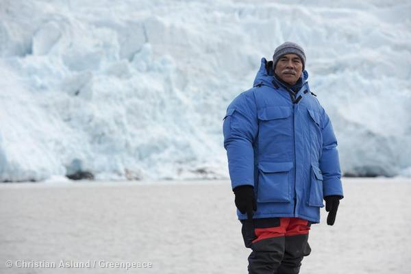 President Anote Tong of Kiribati in the Arctic
