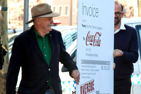 Giving an invoice to Coke for their cost to NT taxpayers