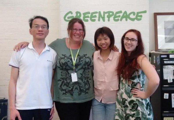 Krystal Li - Work Experience Student at the Greenpeace Australia office
