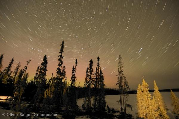 Timelapse over Broadback Valley Forest in Canada