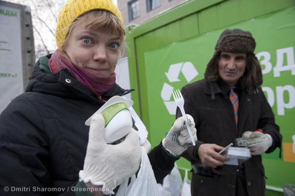 'Arctic 30' Take Part in a Recycling Day in St. Petersburg