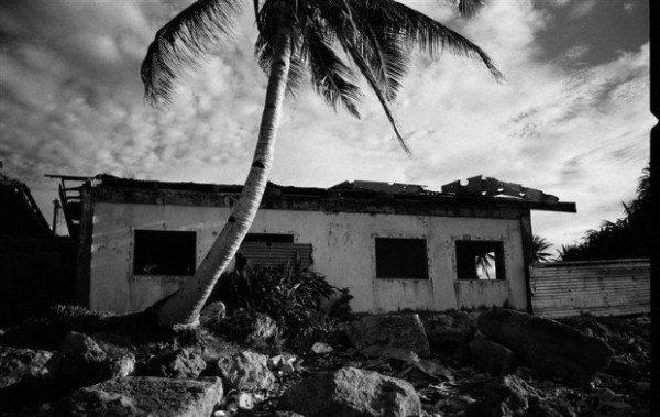 Abandoned Houses - Impacts of Sea Level Rise on Majuro, Marshall Islands - 2005