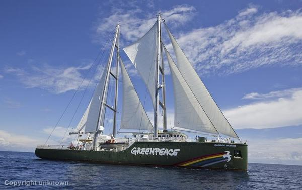 The Rainbow Warrior heads to Vanuatu