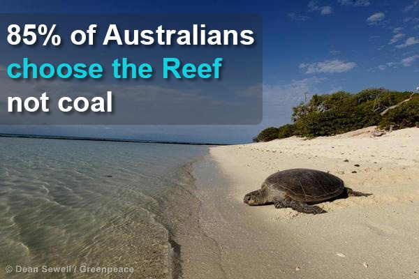 The verdict is in: 85% of Australians choose the Great Barrier Reef over coal