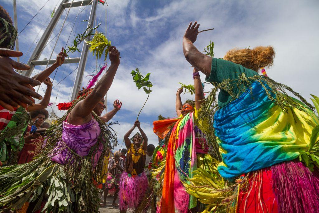 Port Vila arrival welcoming by Vanuatu 18-5-2015 (2)