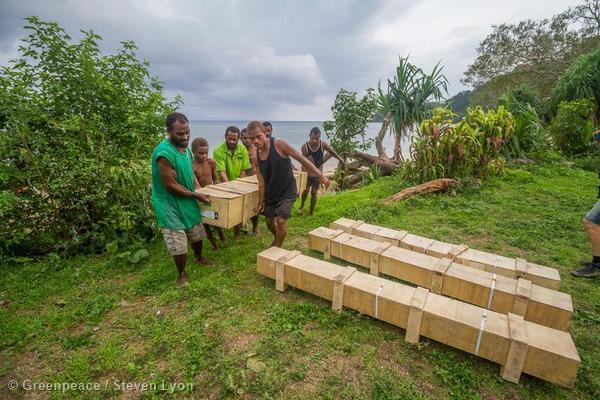 Laone Village Locals Receive Supplies in Vanuatu