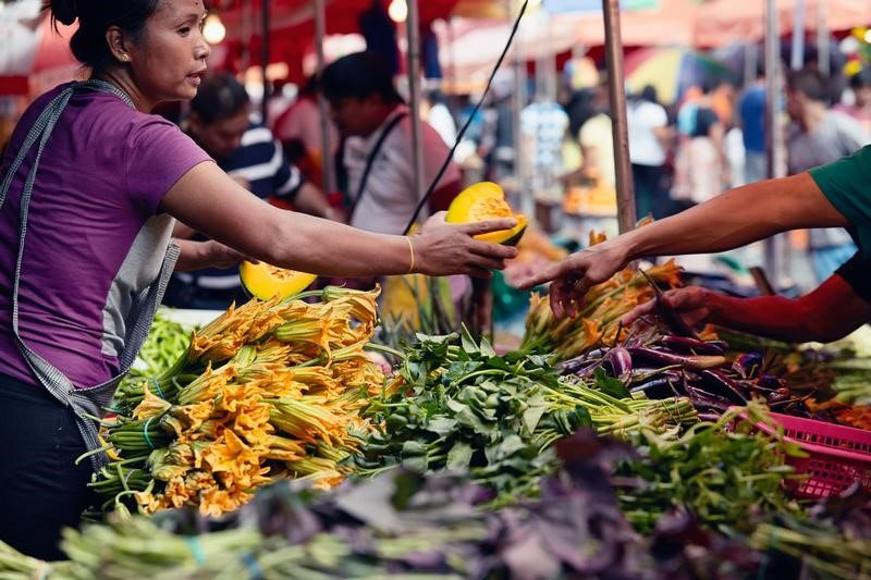 Fruit and Vegetables Stall in Quiapo Market, Manila