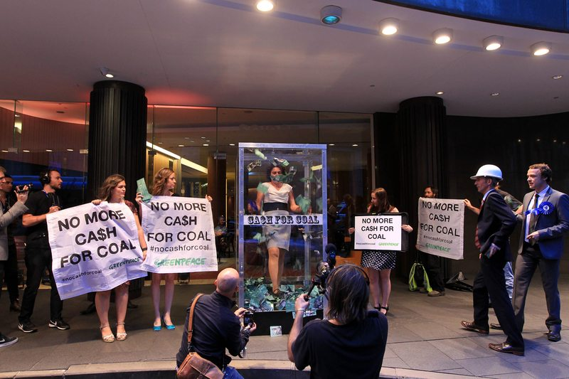 Greenpeace tells coal bosses: hands off Australians? tax money