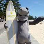 Image Gallery: Activists deliver sharks petition to NSW Premier (and a surfboard!)
