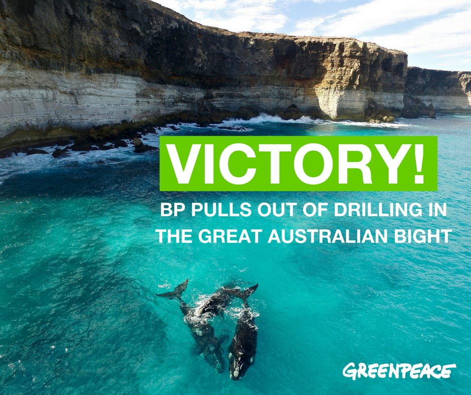 VIctory: BP pulls out of the Great Australian Bight
