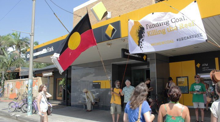 Locals in Byron Bay sent a strong message to CommBank: break free from coal.
