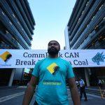 Today community activists dropped a huge banner outside CommBank, and it was awesome