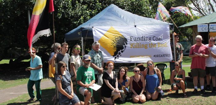 The incredible group of Byron Bay locals who made their voices heard at CommBank today.
