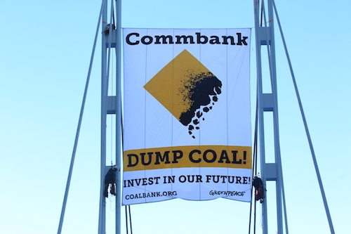 A message CommBank couldn't miss: dump coal!