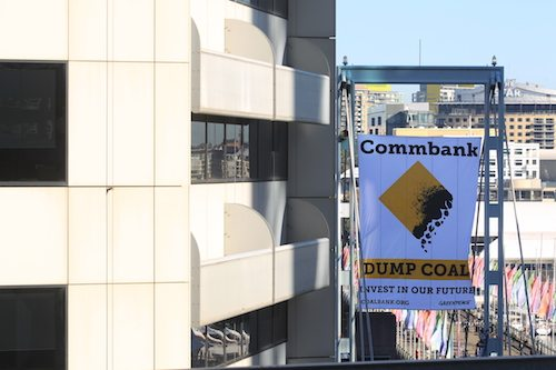 Here's what CommBank staff could see when they looked out the window today