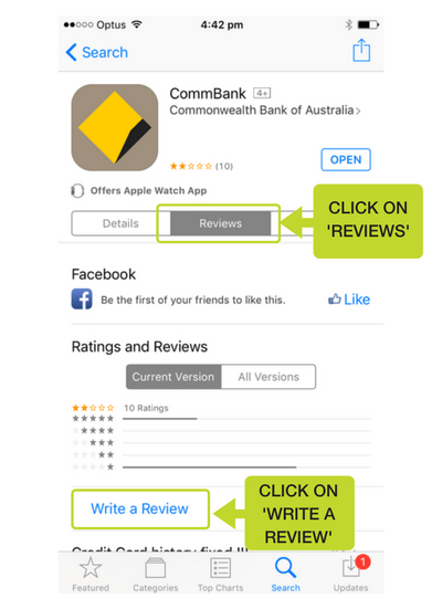 Step 5: Click on 'Reviews' and then click on 'Write a review'