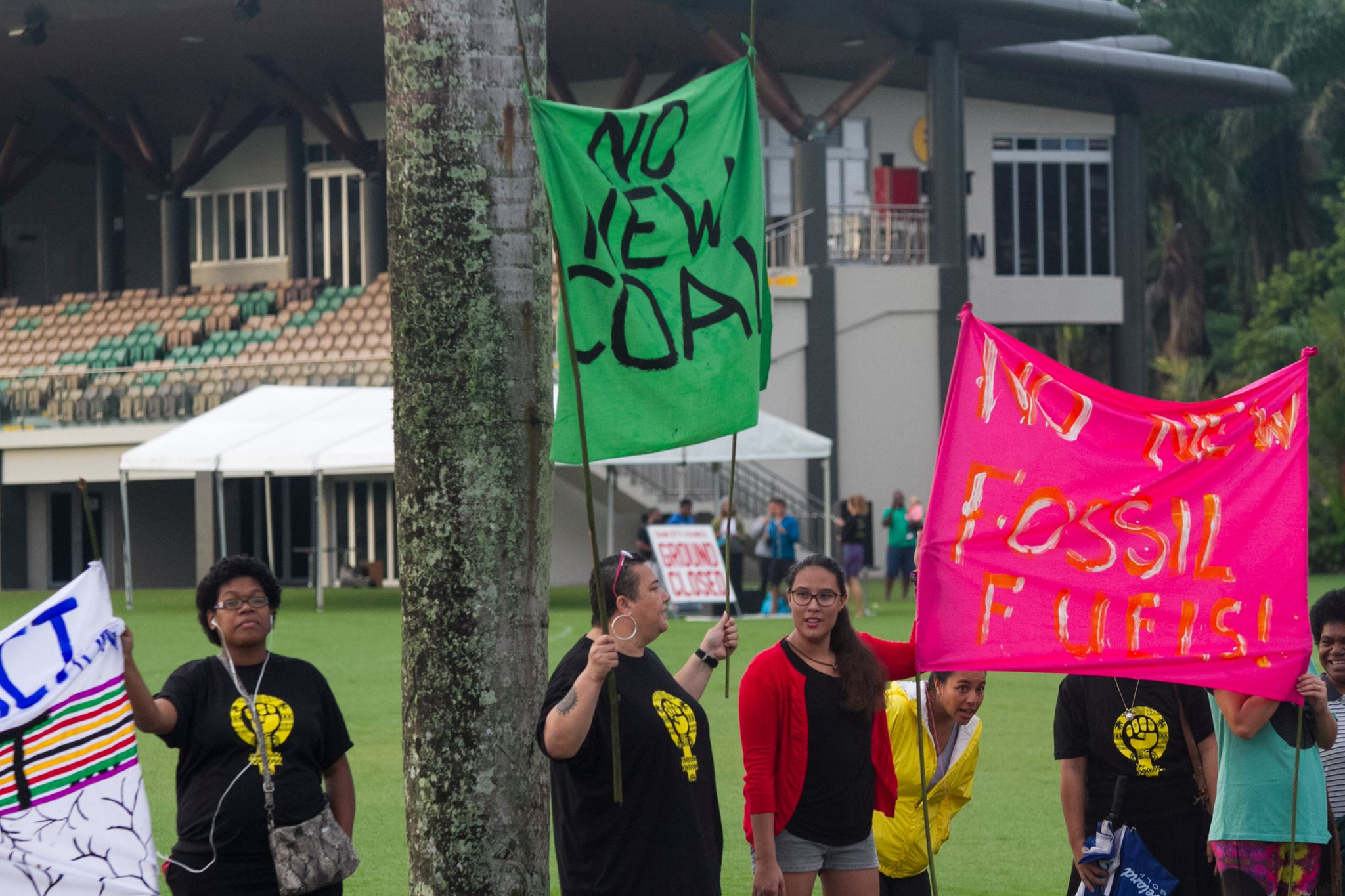 Pacific Activists fighting for No New Coal in Fiji before preparation COP23 meeting in Suva