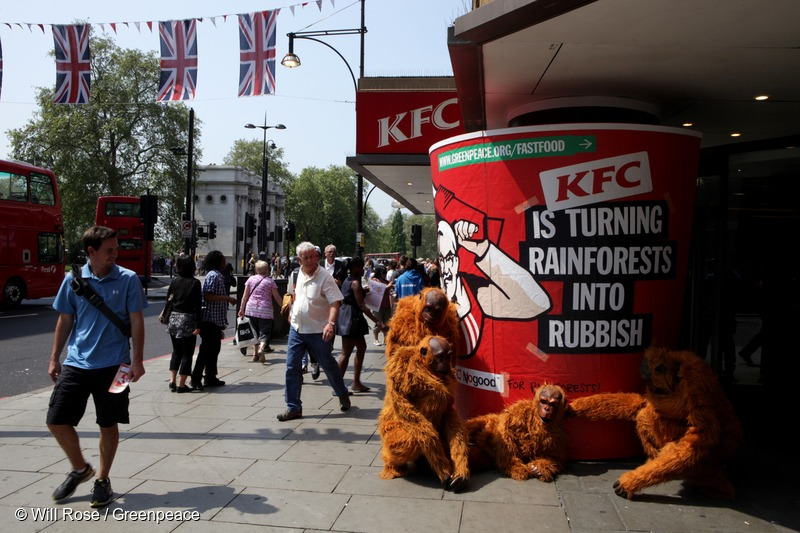 Protest at KFC Outlet in UK