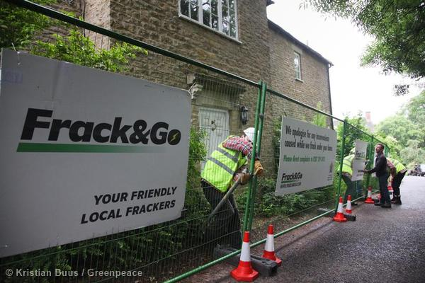 Fracking Site at David Cameron's House in UK