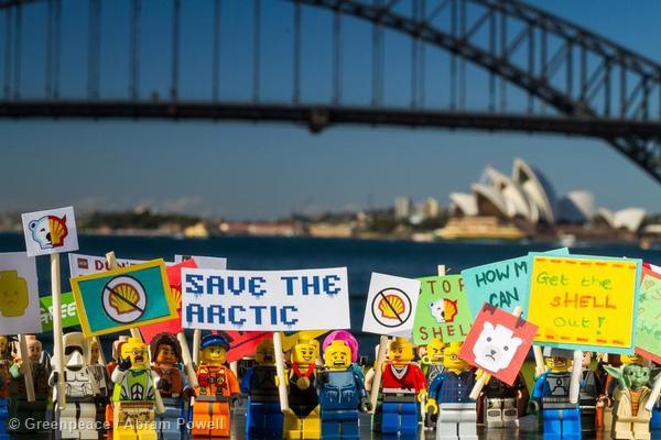 'Save The Arctic' LEGO Protest in Australia