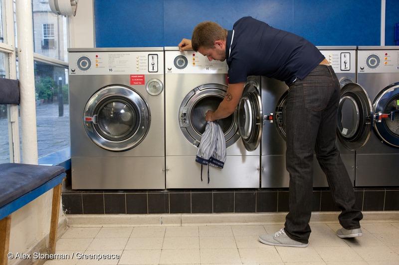 Model Loads Washing Machine