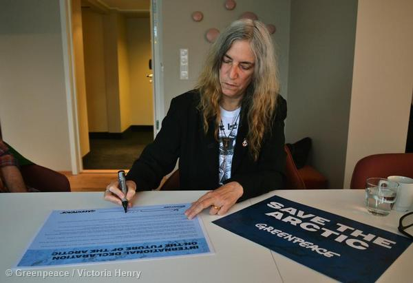 Musician Patti Smith pledges her support for the protection and preservation of the Arctic, adding her name to the International Declaration on the Future of the Arctic.