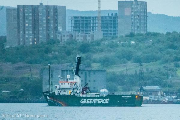 The Greenpeace ship Arctic Sunrise departs from Murmansk, Russia. Captain Daniel Rizzotti and other Greenpeace crew gained access to the ship on June 27th, finding that after more than nine months without maintenance, the ship must undergo considerable work to make it seaworthy for its departure from Murmansk, and its return to Amsterdam.