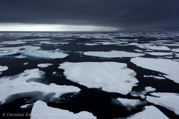 Floating Ice in the Arctic Ocean