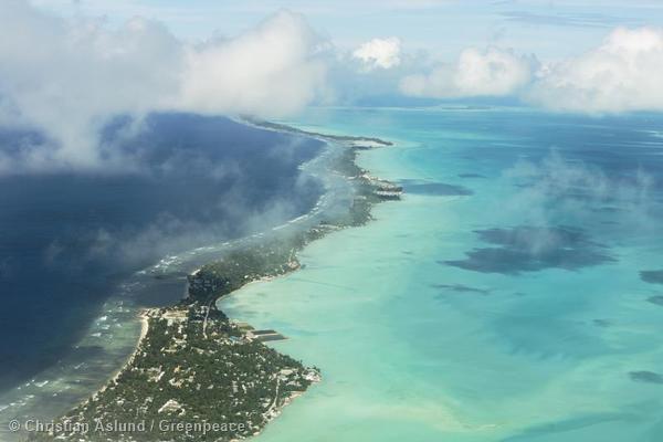 Aerial View of Kiribati Island
