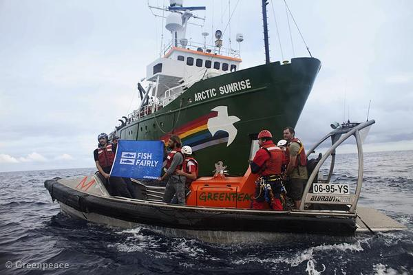 'Fish Fairly' Week of Action Aboard the Arctic Sunrise
