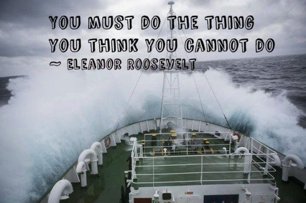 Inspiring quote by Eleanor Roosevelt