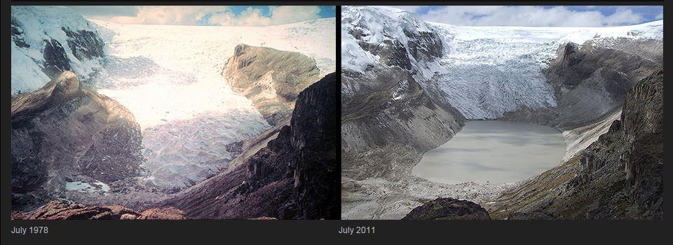 melting glacier peru
