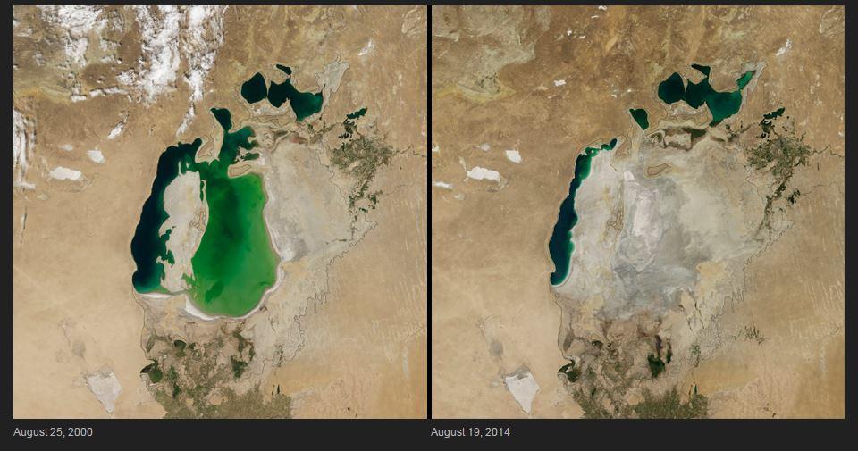 shrinking lake