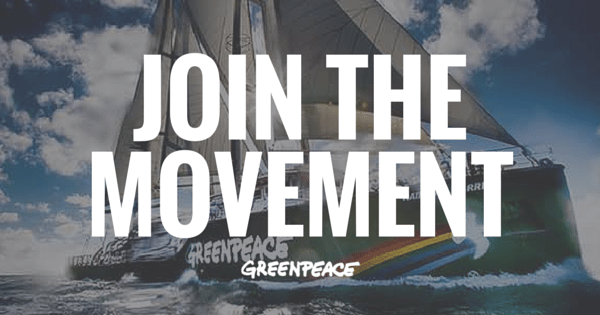 Join the Greenpeace movement today and work towards a green and peaceful future,