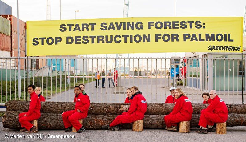 IOI Palm Oil Company Blockade in Rotterdam Harbour, 27 Sep, 2016