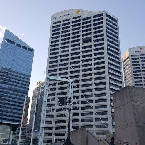 The location: outside CommBank's HQ in Sydney!