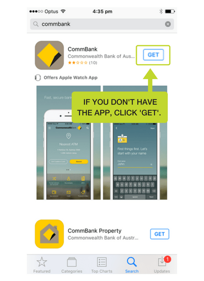 Step 3: If you don't have the app already, click Get and the app will download.