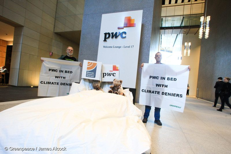 PwC in bed with climate denying Minerals Council of Australia
