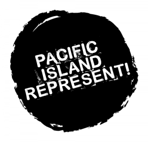 Pacific Islands Represent logo, movement from the pacific countries fighting to stop climate change.