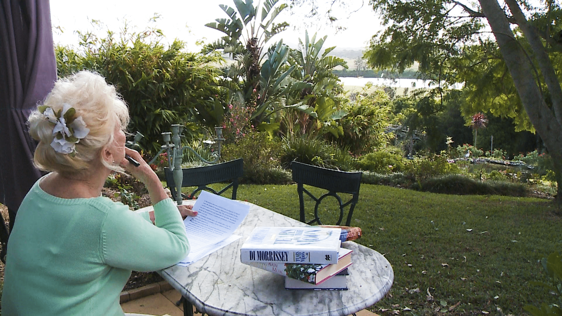 Di Morrissey at home in Northern NSW