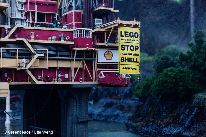 Action against Shell at LEGOLAND in Denmark. 08/07/2014 © Greenpeace / Uffe Weng