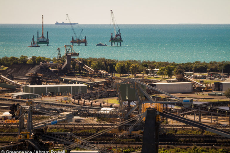 Coal factories near the coast bring pollution to the Great Barrier Reef