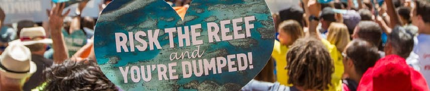 Protest to protect the Great Barrier Reef from dirty coal mining.